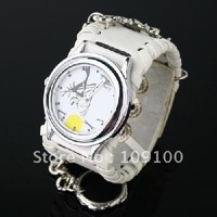 Free shipping /Punk Gothic Ladies Women Men Gens' Genuine Leather Wrist Watch