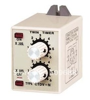 CTDV-N Twin Time Relay,Timer Relay,Free Shipping