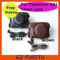 For  Panasonic LUMIX GX1 leather camera bag case