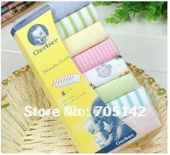 Free shipping! Nice cotton soft baby towels, Small jacquard square Hand/Face/bath wash cloth, baby nursing handkerchief/towel