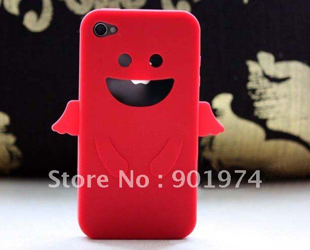 Soft silicone case for iphone, dirt-resistant protective case for 4s, 50pcs/lot