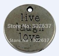 40Pcs Tibetan Silver LIVE LAUGH LOVE Charms A12582