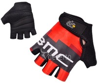 2012 New Hot BMC cycling half finger gloves  M - XL (black)