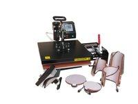 shipping free,8 IN 1 t-shirt/Mug/Cap/Plate Combo heat press machine 29*38CM