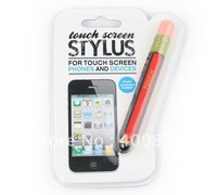 Free shipping cute pencil stylus touch pen for IPHONE