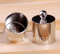 Free Shipping 200pcs/lot, Nickel plating  End Bead End Caps For 10mm Leather Cord , Jewelry findings S272