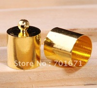 200pcs/lot, Silver plated, gold plated Nickel plating End Bead End Caps For 10mm Leather Cord , Jewelry findings S275
