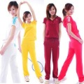 Free shipping Women Clothing Online Sports Tracksuits Jackets/Pants Sport Suits with short sleeve and hat cheap price 4 colour