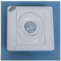 Free Ship,AC 220V 60Hz Infrared Sensor Motion Wall Detector Automatic Light Switch, Energy Saving