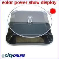 Free Shipping Solar Display Stand /360 Degree Turnable Plate+Rotary Display Base without battery