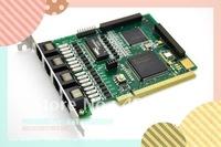 Free shipping TE410P 4 port E1/T1/J1 Digital Asterisk Card / PCI Card 3.3v interface / ISDN PRI PCI card