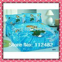 4pcs Bedding Set 100% Cotton Ben 10 Printing Bedding Set Kid Children's Free Shipping