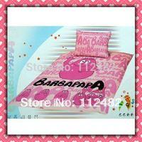 4pcs Bedding Set 100% Cotton Barbapapa Pink Printing Bedding Set Kid Children's Free Shipping