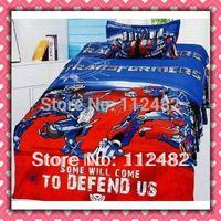 4pcs Bedding Set 100% Cotton Boys Printing Bedding Set Kid Children's Free Shipping