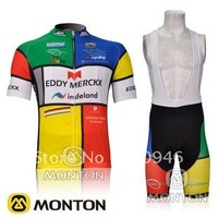 NEW!2012 EDDY MERCKX indeland Team Colors Cycling Jersey/Cycling Clothing/Cycling Wear+Short Bib Pants/Shorts-B063 Free Shipping