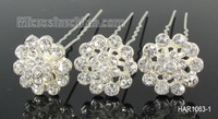 20pcs Clear Crystal Wedding Party Bridal Prom Races Flower Hair Pins Clips