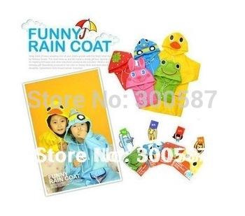 2014 New LINDA Raincoat Kids Rain Coat Boy's Girls Rain cape Waterproof Coats 5 Design