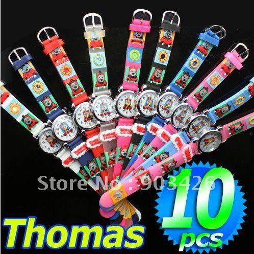 Free Shipping!100PCS/Lot ! Fashion Cartoon 3d Watch Thomas & Friends Children Wristwatch G1250 on Sale Wholesale & Drop Shipping(China (Mainland))