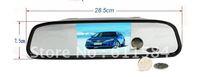 4.3 Inch TFT Car LCD Screen Rear View Rearview DVD AV Monitor Mirror free-shipping