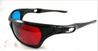 100 pcs/lot 3D glasses/Re-useable Plastic Frame Resin Lens Anaglyphic Blue&Red 3D Glasses/Plastic Glasses Red/Cyan