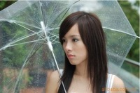 Free shipping 6 colors Romantic Fashion Umbrella Transparent Clear umbrellas
