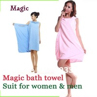 Magic microfiber bath towel Creative Variety beach towel  used for men & women 5 color in stock
