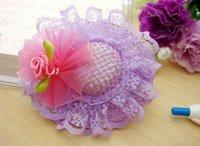 Free Shipping, Kids' Flower Hairpins/Cap Hairpins/Girls' Hair Ornament/Hair Strips/Kids'  Headwear