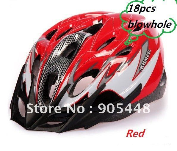 Roswheel Brand NEW Cycling Bicycle Adult Mens Bike Helmet LED Red Black with 18pcs Blowhole Free Shipment with track number(China (Mainland))