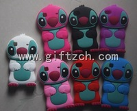 Wholesales,50pcs,3D Stitch Silicon Cell Mobile phone case for Iphone4, 4S