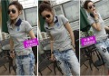 wholesale 2012 t shirt women  Cotton double stand collar short-sleeved T-shirt  free shipping