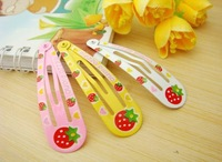 Free Shipping, Kids' Strawberry Hairpins/Plastic Hairpins/Girls' Hair Ornament/Hair Strips/Kids'  Headwear