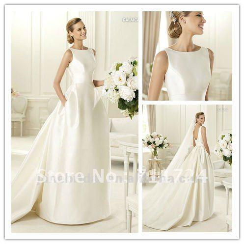 Wedding dress high neck low back bridesmaid dresses for Low back wedding dresses for sale