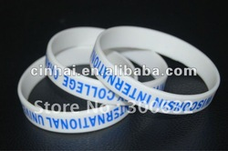Cheap Silicon Hand Band with customized printed logo as promitional gift(China (Mainland))