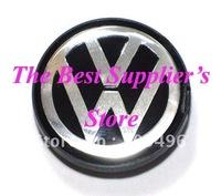 50piece Top Quality 3D Chrome Badge VW Blue Wheel Center Cap BORA GOLF JETTA PASSAT LUPO POLO 55MM