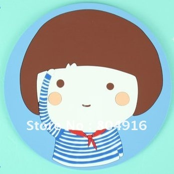 Cute Chinese Style Old Memories ST0763 & Lancy Cat ST0764 PVC Soft Cup/Glass/Teacup Wad Mat Coaster Pad Cupholder 8 designs
