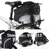 Cycling Bike Travel 15L Bicycle Rear Seat Pannier Bag Pouch Scalable Capacity