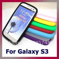 For Samsung Galaxy S3 I9300 Silicone Case Skin Cover, 200pcs/lot
