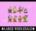 Free Shipping !!!  wholesale!!!  2012 Hot sale  !!!  160pcs/lot Snow White  fashion PVC shoe charms  / best choice for kids