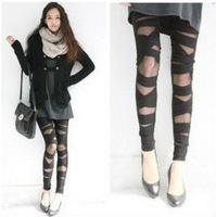 New Women's Leggings cross straps mesh pantyhose freeshipping 2012 new model  tracking number
