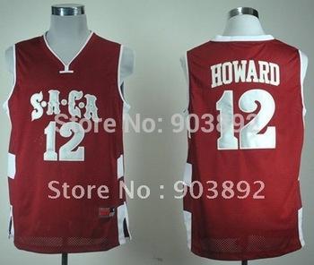 Ncaa SACA High School #12 Dwight Howard red college basketball jerseys mix order free shipping