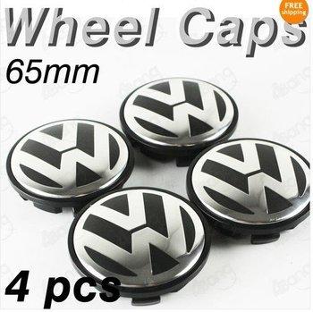 4pcs 65mm Car Wheel Center Hub Cap Emblem Decal For VW Volkswagen Model