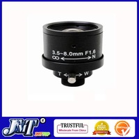 F02197 1/3&amp;quot; 3.5-8mm F1.6 Manual Zoom Focal Fixed Ir Board Lens For MTV CCTV Security IP Camera + Free shipping