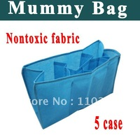 Free Shipping 5 case mummy bag  Safe and nontoxic fabric Pocket depth and width of the design are reasonable