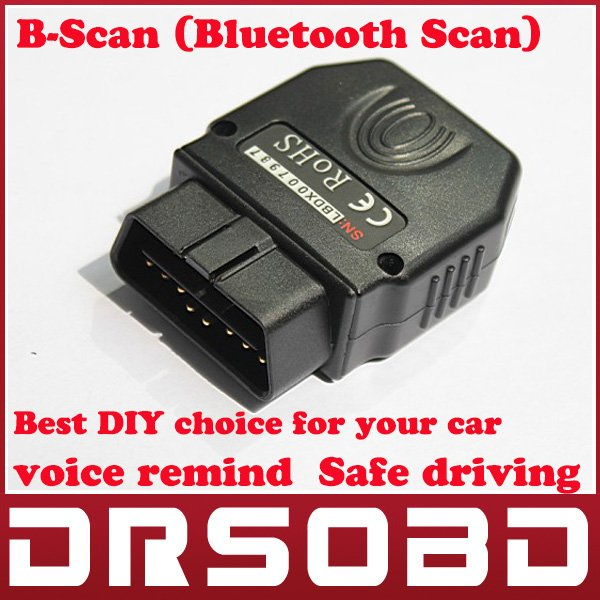 Hot Selling B-Scan Bluetooth Scan car owner DIY Android V2.3 cell phone B Scan Car scanner Safe driving remind(China (Mainland))