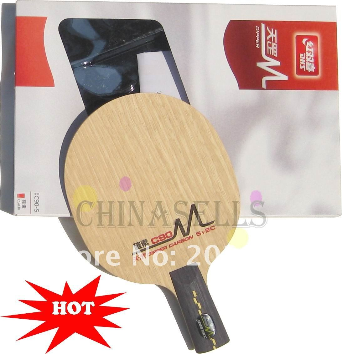 1pcs free ship Genuine table tennis blade DHS DIPPER CARBON C90 7ply table tennis racquet(China (Mainland))