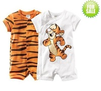 baby's kids romper animal model white orange child rompers overalls cotton baby clothing wear cotton