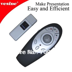 USB Wireless Multimedia Remote Laser Pointer Presenter with Trackball Mouse free shipping VP1000 2pcs/lot(China (Mainland))