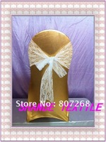 Free shipping - Luxury  white lace chair cover sash
