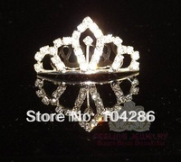 Rhinestone tiara crown girls hair jewelry crystal hair ornament 12pcs/lot