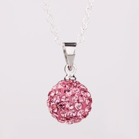 Fashion Jewelry Shamballa Necklace New Tresor Paris Allure CZ Disco Ball Bead SBP001 T H 334